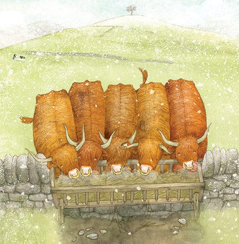 Matthew Land 12 Days of Yule illustrations