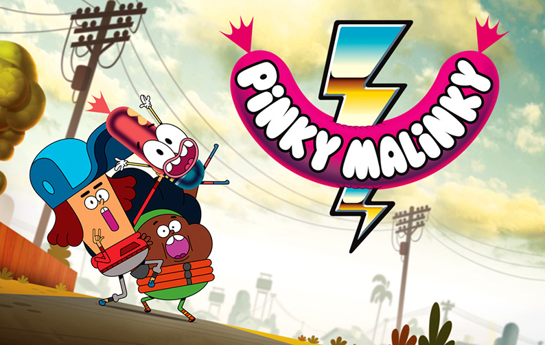 Pinky Malinky - Art Direction 'BG Design and Paint' created for Netflix by Chris Garbutt and Rikke Asbjoern