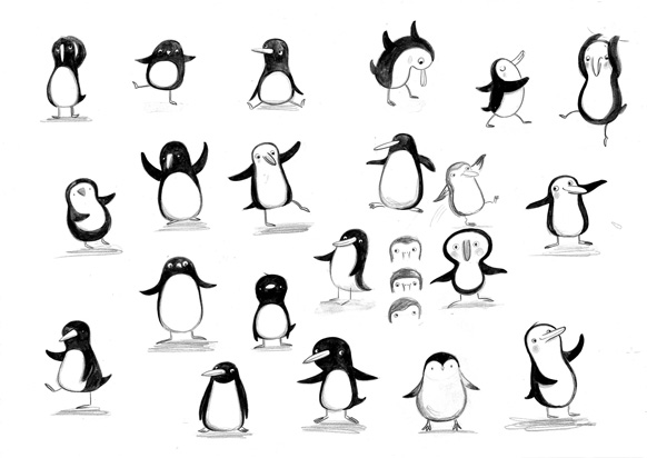 Character sketches by Kristyna Litten for Iglu Gel