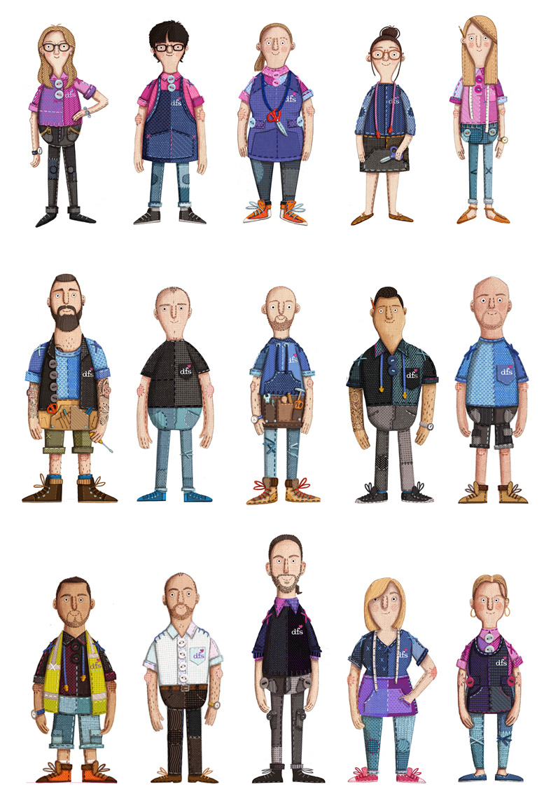 DFS character designs by Kristyna Litten