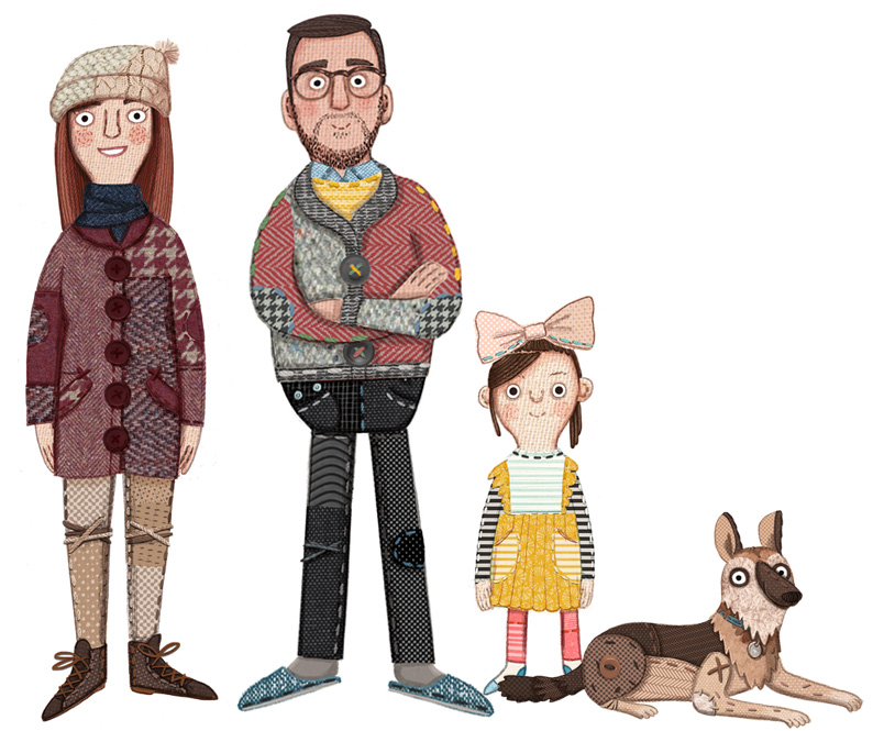 Kristyna Litten Character Designs for DFS Time to Snuggle Up TV Ad