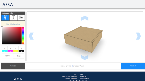 Arka 3d box designer