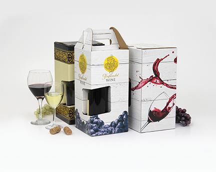 Digitally printed wine box