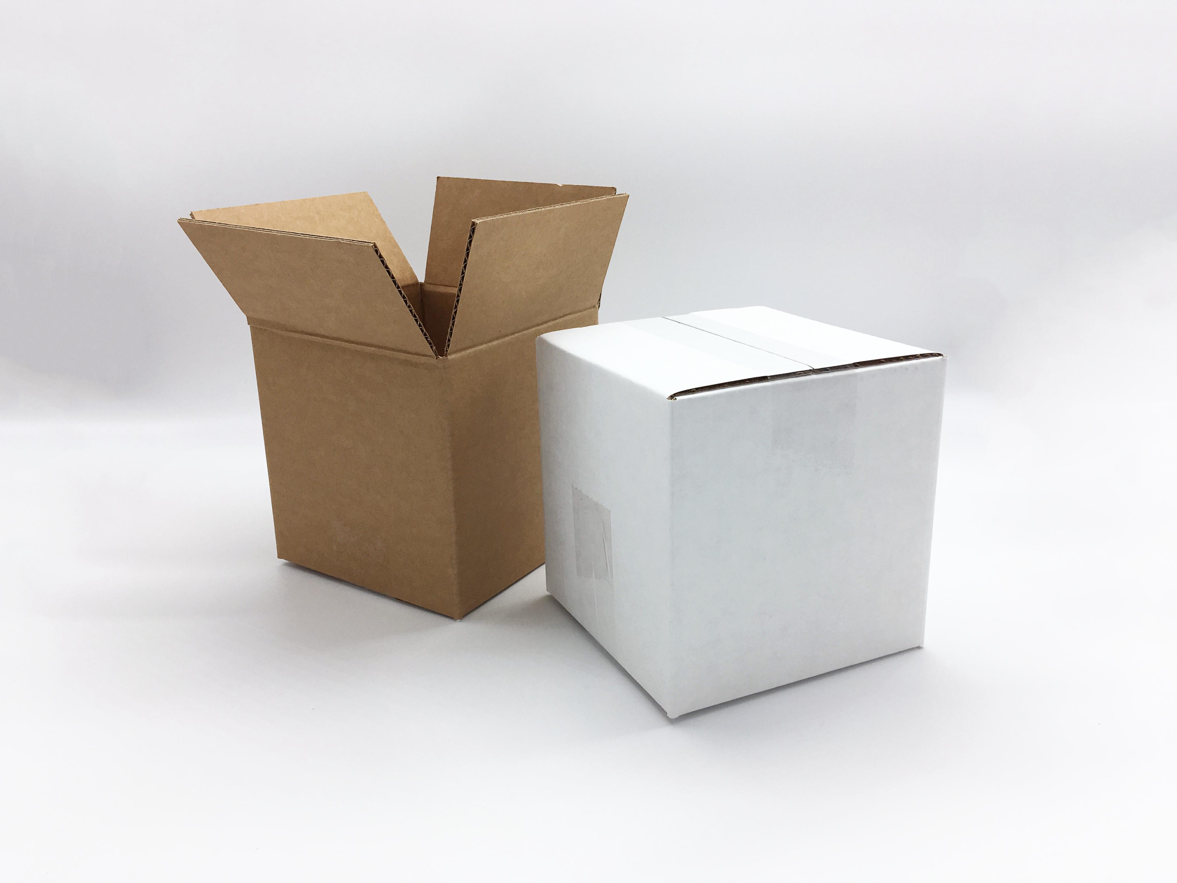 plain shipping boxes