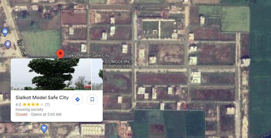 Model Safe City Map