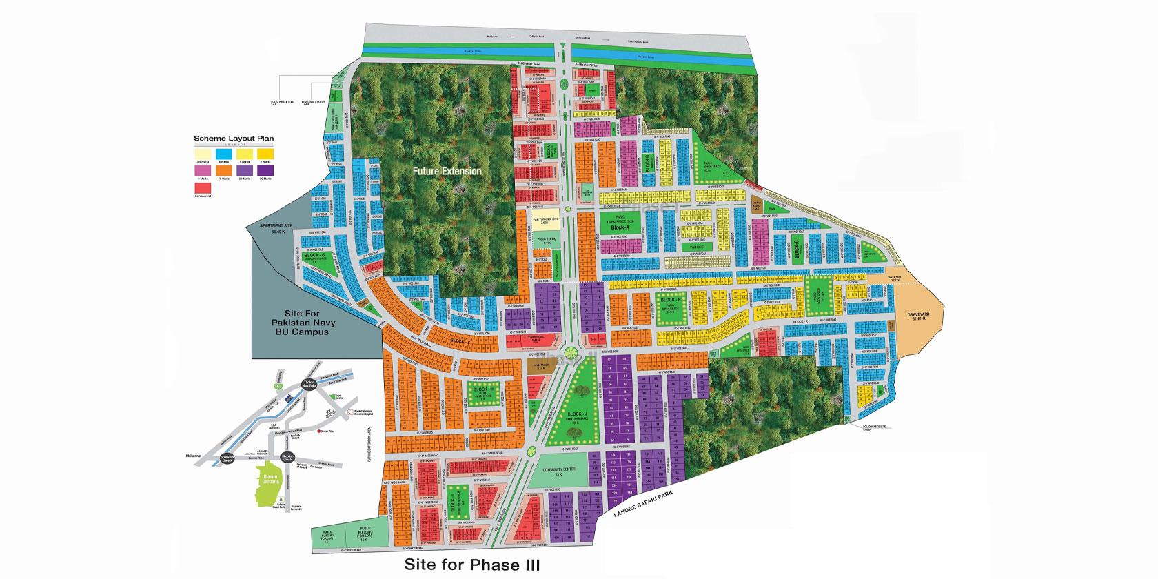 Dream Gardens Map