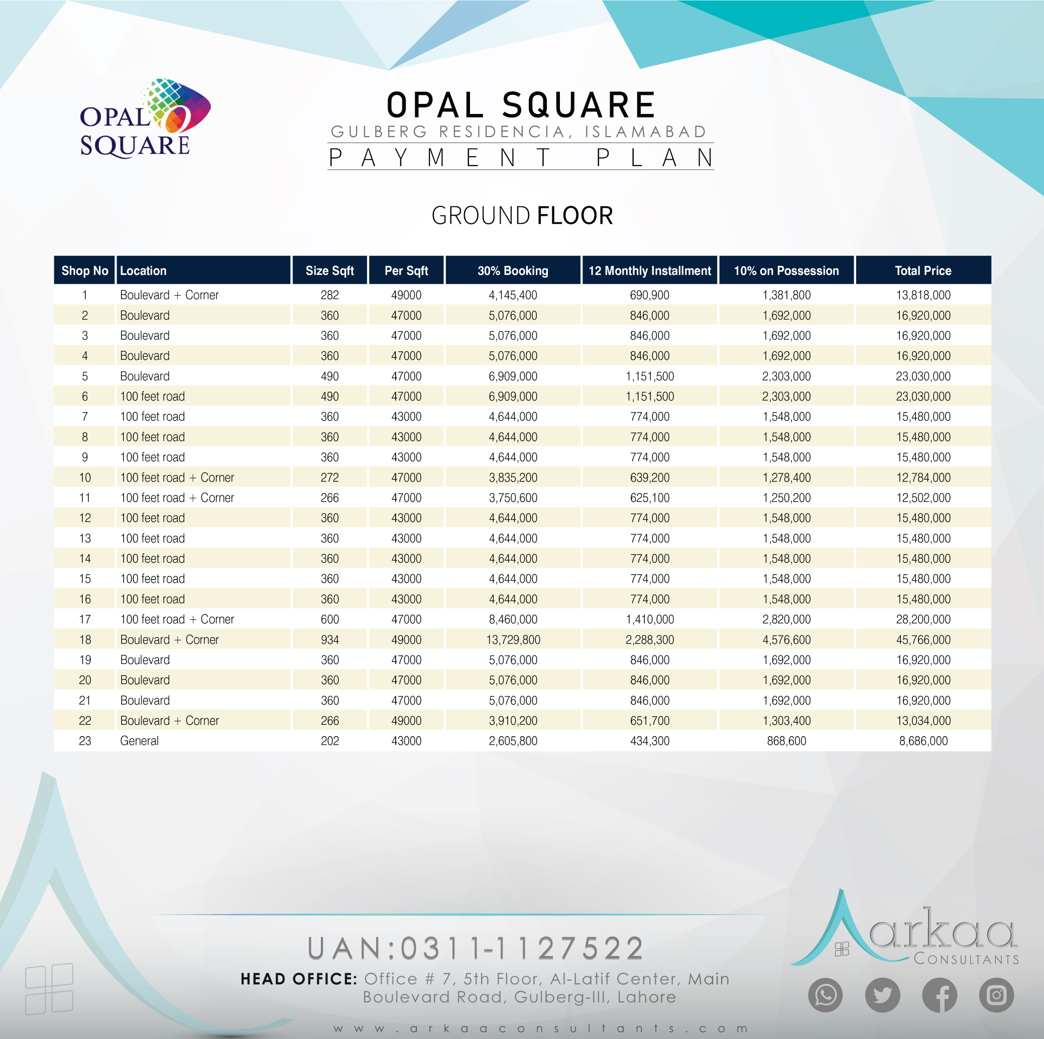 OpalSqaure payment 2