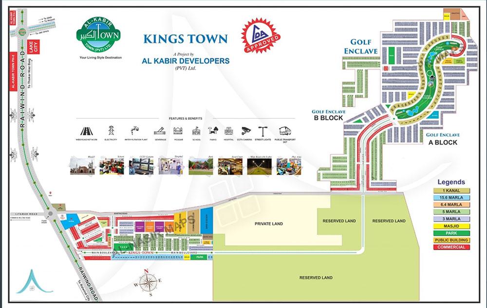Kings Town Map