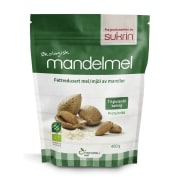 Mandelmel, økologisk fettredusert 400g