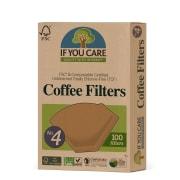 Kaffefiltre, ubleket str. 4 100 stk