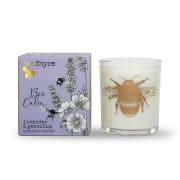 Bee Calm, lavendel og geranium, duftlys av planteoljer 20cl