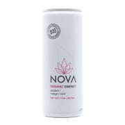 Nova Organic Energy, pasjonsfrukt, mango og mint. 250ml