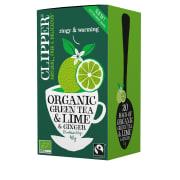 Lime and ginger, økologisk grønn te 20 poser Te