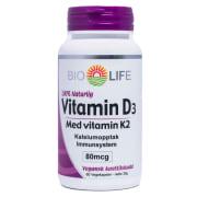 Bio Life Vitamin D3 med K2 90 Vegkapsler