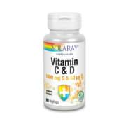 Vitamin C & D - 1000mg C og 50µg D 60 Vegkapsler