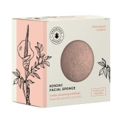 Konjac facial sponge, pink clay