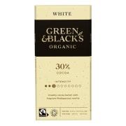 Hvit sjokolade, med vanilje, økologisk og Fairtrade 100g