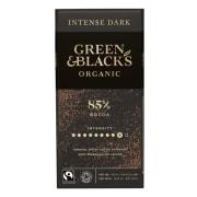Mørk sjokolade 85%, økologisk og Fairtrade 100g