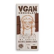 Vgan Aurora, hasselnøtter, Guarana & ingefær 70g Sjokolade