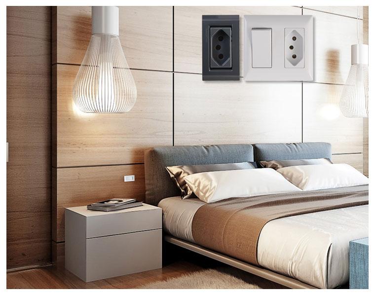 Placas e interruptores Tramontina para móveis