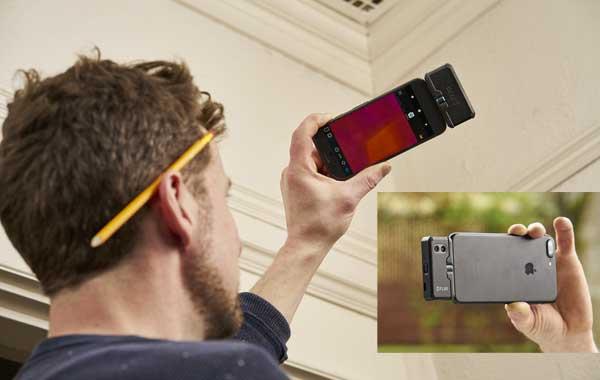 Câmera térmica acoplável ao celular