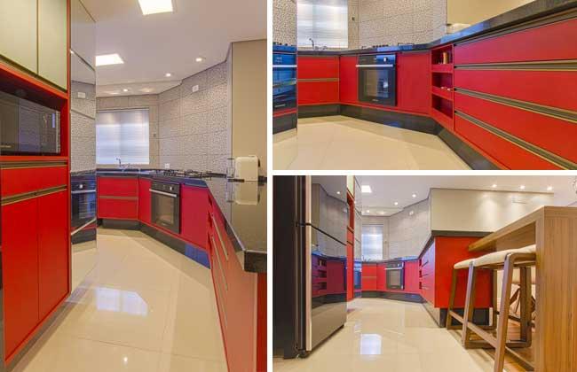 Cozinha vermelha de Ana Johns
