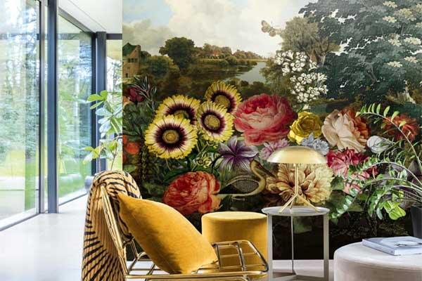 Flores na parede