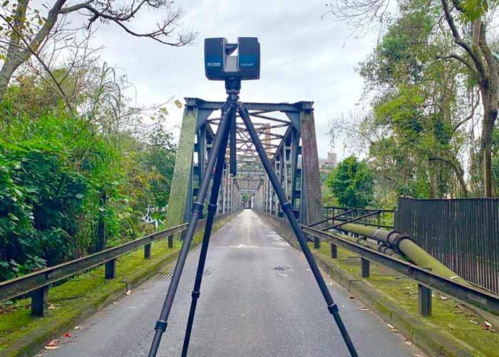 Ponte de Ferro passa por escaneamento a laser 3D
