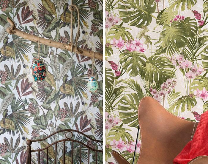 Tropical na parede