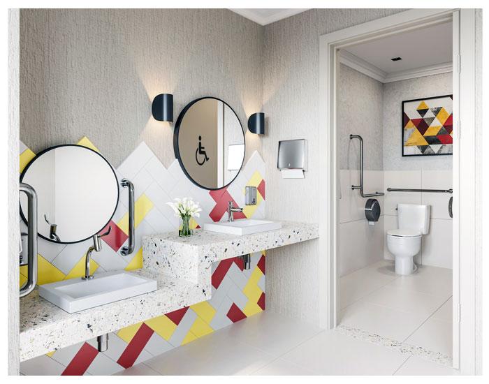 Banheiro acessível Celite