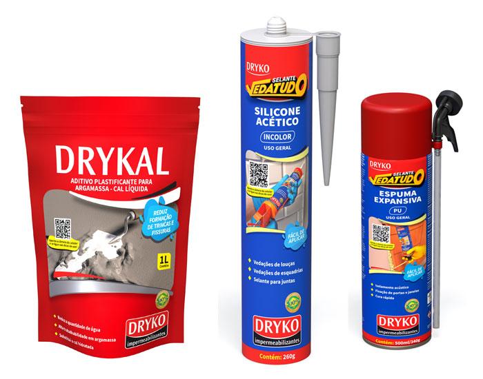 DRYKO Impermeabilizantes lança produtos