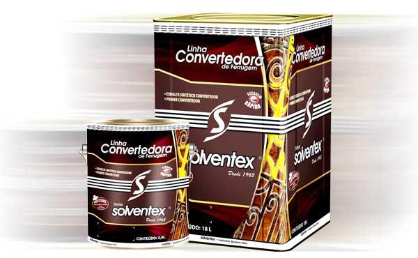 Solventex lança linha convertedora de ferrugem
