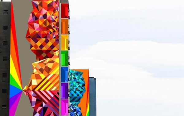 Prédio ganha cores Sherwin-Williams e Colorgin