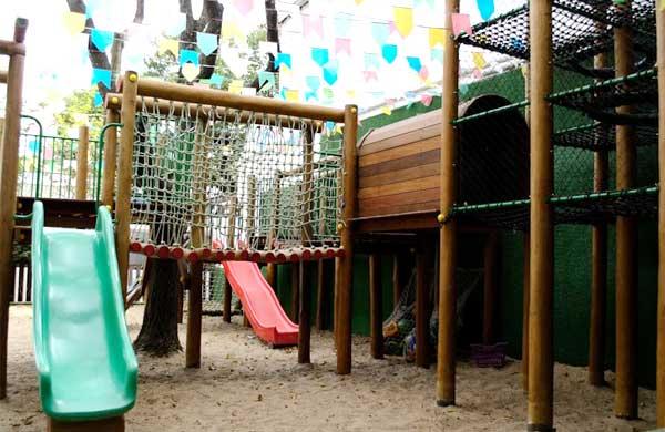 Playground vai à sala de aula