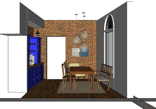 Sala de Almoço inova com revestimentos contemporâneos ePiso