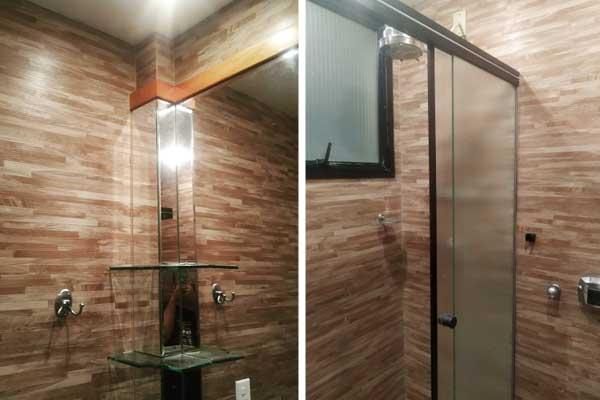 Transforme o banheiro com revestimento vinílico
