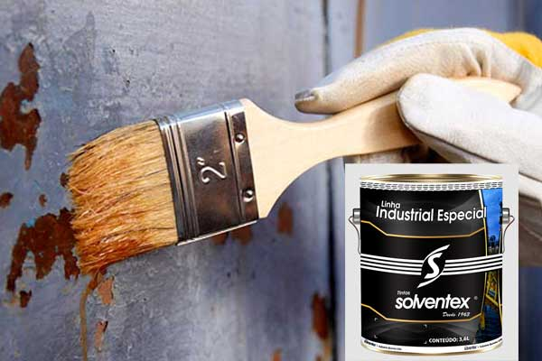 Solventex contra a ferrugem em aço