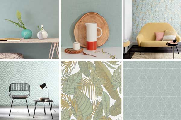 Paredes em neo mint na Wallcovering