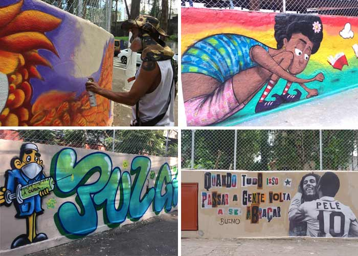Grafite na comunidade de Paraisópolis