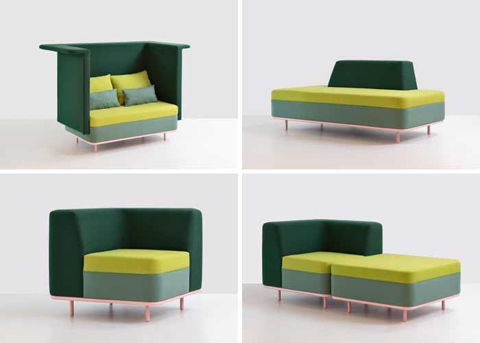 Novacorp distribui sofás modulares Guto Requena
