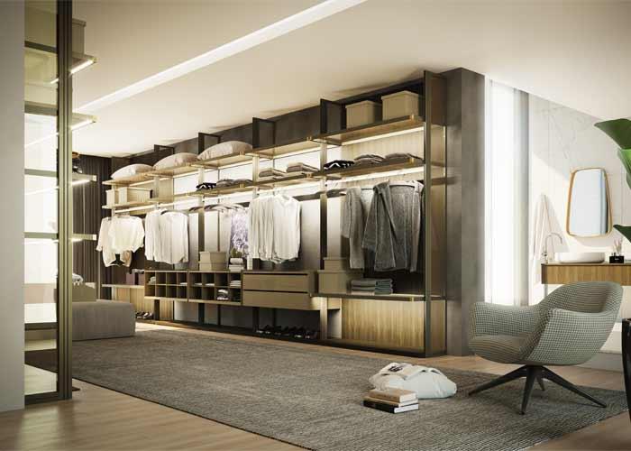 Iluminação leva charme para armários, closets e estantes