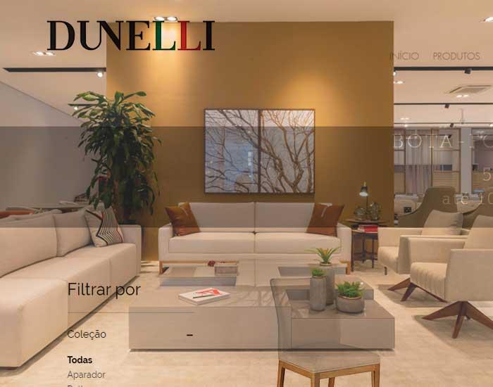 Dunelli em loja virtual