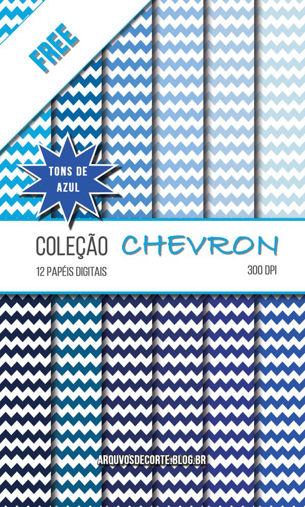 ca11e7a0cf3 Papel digital Chevron Azul grátis - Arquivos de corte Silhouette