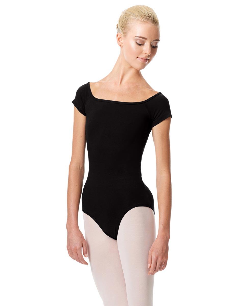 Womens Cap Sleeve Ballet Leotard Naomi BLK