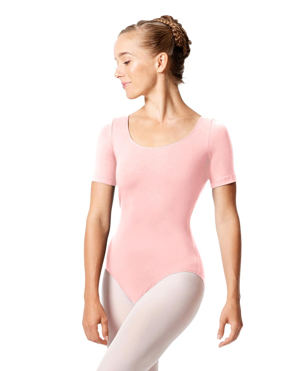 Adult Basic Short Sleeve Ballet Leotard Tina PNK