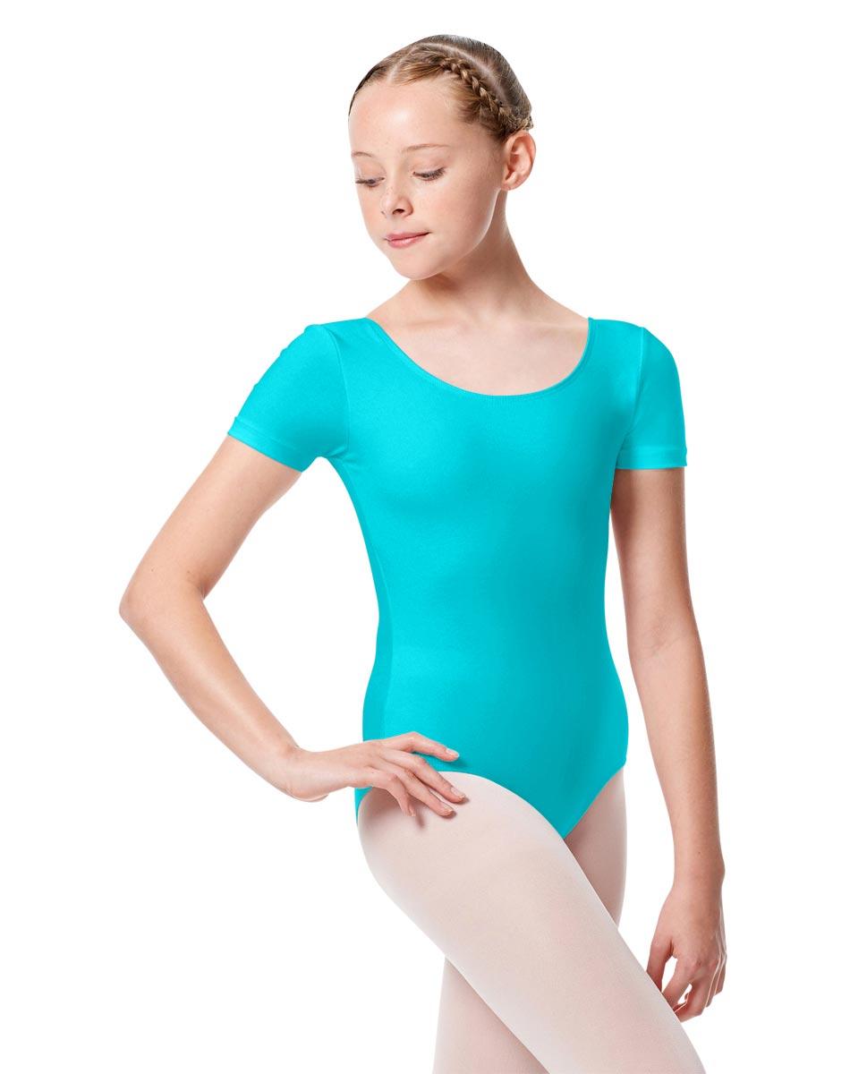 Child Basic Short Sleeve Ballet Leotard Tina ABLU