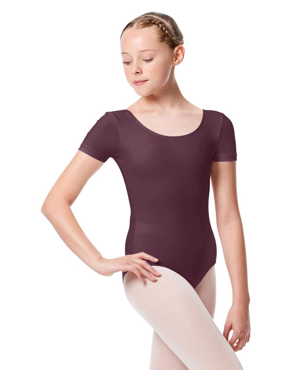 Child Basic Short Sleeve Ballet Leotard Tina AUB
