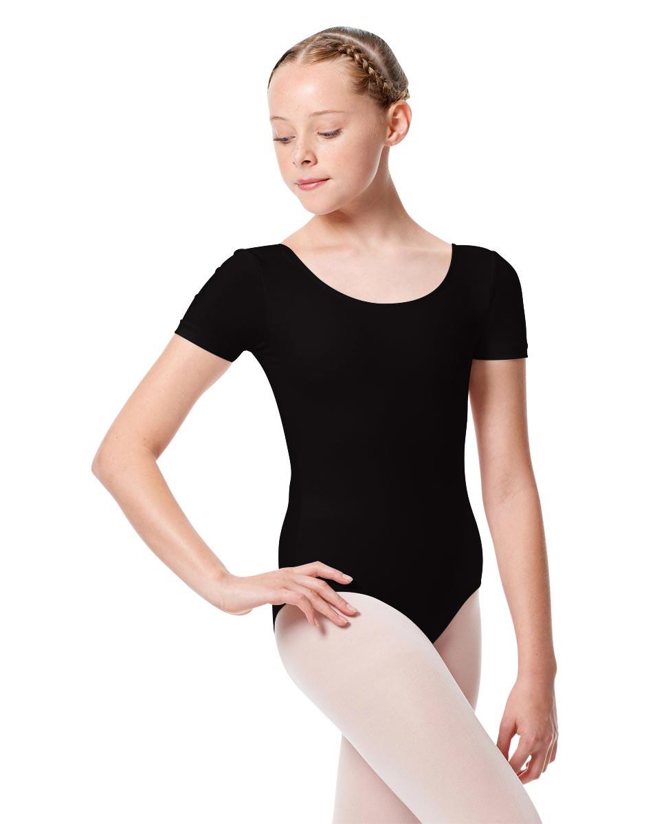 Child Basic Short Sleeve Ballet Leotard Tina BLK