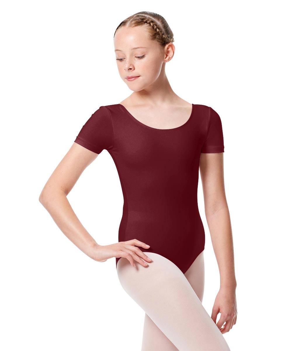 Child Basic Short Sleeve Ballet Leotard Tina BUR
