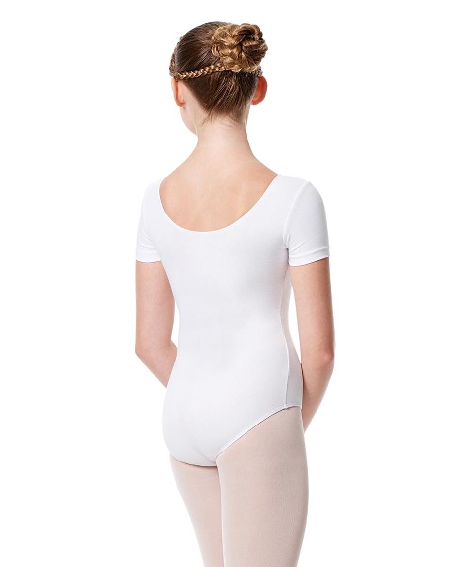 Child Basic Short Sleeve Ballet Leotard Tina back-child-basic-short-sleeve-ballet-leotard-tina